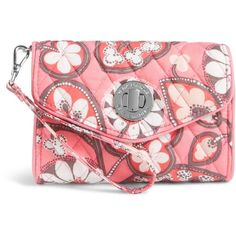 Vera Bradley Your Turn Smartphone Wristlet in Blush Pink ($44) ❤ liked on Polyvore featuring accessories, tech accessories, blush pink, smartphone wristlet, samsung galaxy smartphone, iphone wristlet, smart phone wristlet and evening wristlet