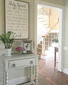 Entryway Decor, Wall Decor, Room Decor, Entryway Quotes, Foyer, Spiritual Decor, Elegant Homes, My Dream Home, Decor Styles