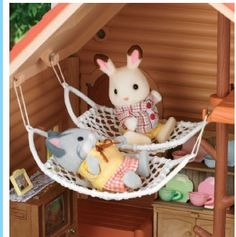 hammock close up - idea for gnome house -Calico Critters Calico Critters Lakeside Lodge