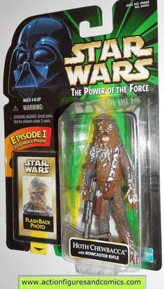 star wars action figures CHEWBACCA HOTH flashback power of the force 1998 hasbro toys moc