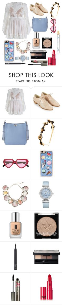 """👼 ANGEL 👼"" by adriana-guga ❤ liked on Polyvore featuring Zimmermann, Hobbs, MICHAEL Michael Kors, Eugenia Kim, Zero Gravity, Paolo Costagli, OMEGA, Clinique, NARS Cosmetics and Smashbox"