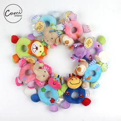 Candice Guo Baby Rattles & Mobiles Newest Arrival Super Cute Colorful Animal Bee Rabbit Monkey Shaking Stick Rattle Bb Device Baby Toy Gift 1pc Online Discount
