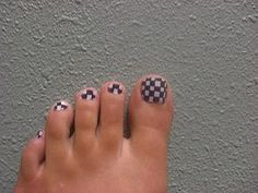 Create the checkerboard look using our Abyss and Manicure white Nail Enamel! http://www.honeybeegardens.com/product/natural-cosmetics/npwcne.html