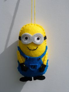Felt Minion Ornament  Felt Despicable Me Ornament by FeltLikeIt1, $12.00