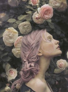 Beautifully colored pastel pink purple hair