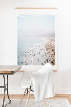 Buy Art Print And Hanger with La Summer designed by Bree Madden. One of many amazing home décor accessories items available at Deny Designs. Grey Desk Chair, Home Depot Adirondack Chairs, Big Wall Art, Bedroom Murals, Eames Chairs, Desk Chairs, White Velvet, Dining Room Walls, Living Room