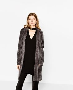 Image 2 of LONG CHENILLE JACKET from Zara