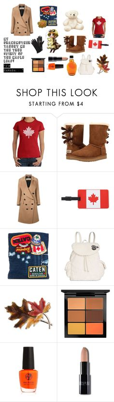 """Aph Canada Styled Look"" by leitan-goldfish on Polyvore featuring Los Angeles Pop Art, UGG, Burberry, Travelon, Dsquared2, Steve Madden, Anne Klein, MAC Cosmetics and Lanvin"