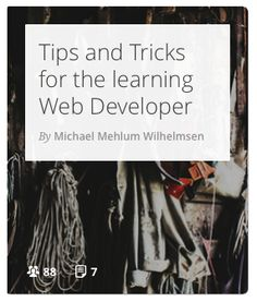 This flow is dedicated to any web developer that still feel the burning lust of knowledge. #webdevelopment #coding