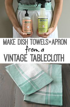 DIY Apron/Dish Towels with Mrs Meyers Clean Day — Decor and the Dog