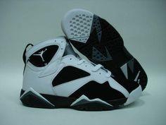 5654324216408e Air Jordan 7 Retro White Black Grey