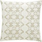 Lacey Pillow with Feather-Down Insert.     http://www.crateandbarrel.com/lacey-23-pillow/f51894