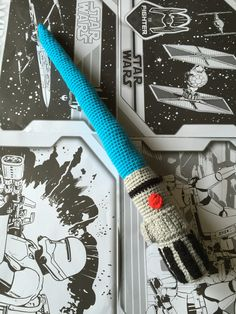 Crochet #starwars lightsaber, free pattern over on the link