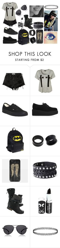"""Summer Emo Outfit"" by abipatterson on Polyvore featuring Abercrombie & Fitch, Vans, Karl Lagerfeld, NOVICA, Samsung and The Row"