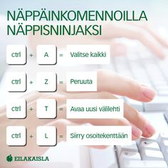 Näppiskomennoilla näppisninjaksi! #näppäinkomennot #tietokone #työ #eilakaisla Vocabulary, Core, Random, Tips, Advice