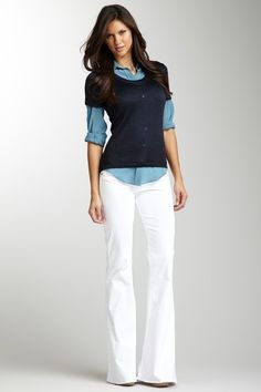 love the outfit, need a pair of white pants