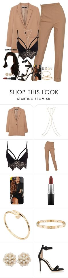 """""""sorry // beyoncé"""" by x0-chelseaa ❤ liked on Polyvore featuring MANGO, Miss Selfridge, Club L, Hermès, MAC Cosmetics, Cartier and Gianvito Rossi"""