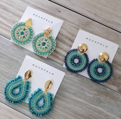 Diy Jewelry Gifts, Diy Jewelry Projects, Jewelry Crafts, Handmade Jewelry, Beaded Earrings Patterns, Beading Patterns, Diy Earrings And Necklaces, Seed Bead Art, Antique Jewellery Designs