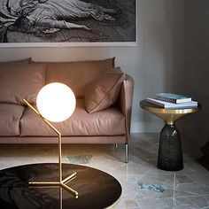 Flos IC Lights 200 Table Lamp, Brushed Brass by johnlewis
