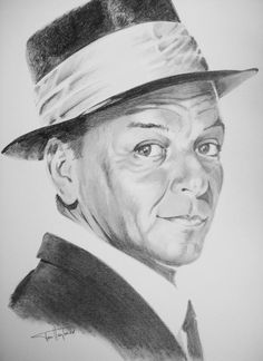 Portrait of Frank Sinatra by Tom-Heyburn on Stars Portraits, the biggest online gallery for celebrity portraits. Celebrity Drawings, Celebrity Portraits, Graphite Art, Game Logo Design, Caricature Drawing, Angel Art, Drawing Techniques, Famous Faces, Face Art