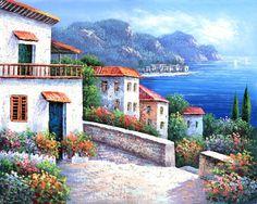 cuadros con mar, aldeas, faros i demás - Àngels T.Castany - Álbumes web de Picasa