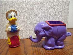 Animal Kingdom SAFARI TALKING DONALD DUCK with ELEPHANT Disney 1998 Figure lot  #disney #DisneyAnimalKingdomfigure