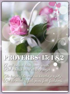 Proverbs 15: 1&2
