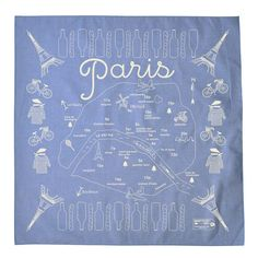 Paris Bandana Chambray / Maptote Do we need this? Paris Map, Cowboy Party, Fab Life, Fashion Lookbook, Shades Of Blue, Tech Accessories, Chambray, My Style, French Style