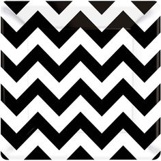 Liven up any birthday cake with the boldly designed Black and White Chevron Dessert Plates.  The 7 inch plates feature a dynamic black and white herringbone pattern across a contemporary square plate.  Perfect for appetizers and dessert, the plates can be combined with other tableware from the energetic Chevron collection or serve as an eye-catching accent to solid color supplies in black and white.  Chevron dessert plates are sold in quantities of 18 per package.