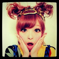 i'm absolutely obsessed with this girl right now. please youtube and watch the video ponponpon by kyrary pamyu pamyu. it's cute. it's weird. it's fun. #harajuku
