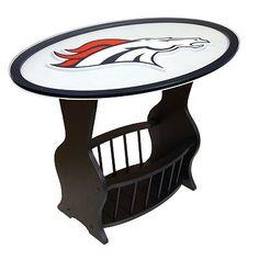 Denver Broncos End Table. Soooooo getting this one day!!