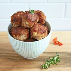 Sun Dried Tomato & Feta Meatballs. Made with turkey, these are popular with…