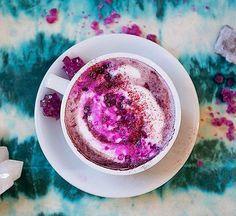 "179 Likes, 20 Comments - Aubrey  (@dopedaydreamer) on Instagram: ""Purple Amethyst Tea Latte✨ Ingredients: Base •1 tbsp organic maqui berry powder •4 ounces water…"""
