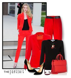 The Pantsuit by lorrainekeenan on Polyvore featuring polyvore fashion style Belford MaxMara Boutique Moschino Christian Louboutin Givenchy Marni Maison Boinet Burberry clothing