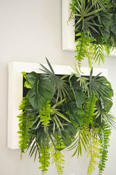 Before & After: A Cookie Cutter Suburban Home-Turned-Vintage Surf Hideaway The faux living wall was a DIY using fake foliage from Michael's. Plant Wall Decor, Fake Plants Decor, Flower Wall Decor, Faux Plants, Hanging Plants, Wall Of Plants Indoor, House Plants, Flower Wall Design, Fake Flowers Decor