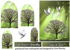 This card pyramid card is very easy to make, Has 2 labels, peace at last, and With deepest sympathy. its a sad time but this is a nice card to send, it has sunbeams shining through the tree tops and doves flying in the air. Sympathy Cards, Greeting Cards, Peace At Last, Rose Price, Deepest Sympathy, Little Prayer, Wedding Congratulations, Tree Tops, Decoupage
