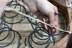Upholstery Workshop Tutorial: How to tie springs. Design*Sponge Tutorials | via @theslowlorus
