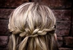 Gorgeous braided halo hairstyle