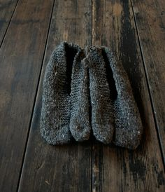 Room Shoes,  hand spun wool,  hand knitted in the Himalayas