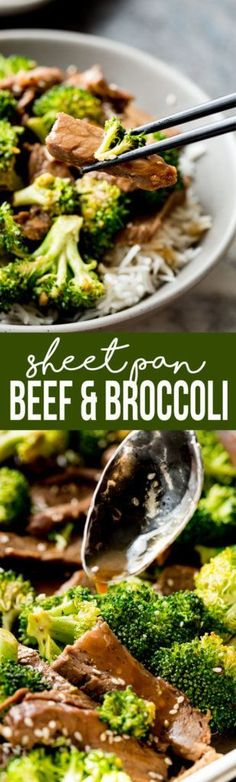 Sheet Pan Beef and Broccoli is an easy no fuss dinner that is DElICiOUS