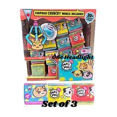 Lot-of-3-Moj-Moj-Crunch-Series-1-Crunchy-Squishy-Surprise-Cube-Glitter-Confetti Creative Arts And Crafts, Crafts For Kids To Make, Cool Fidget Toys, Cool Toys, Target Toys For Girls, New Girl Toys, Disney Princess Dress Up, Diy Barbie Furniture, Lol Dolls