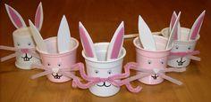 yogurt ( or Kcup) Bunnies !! easter is coming :)