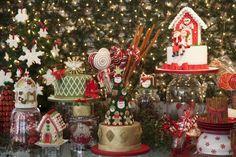 mesa de doces Natal, como decorar a mesa para o natal, decoração natal, papai noel, doces natal, bolos natalinos, merry christmas, christmas decor, christmas table