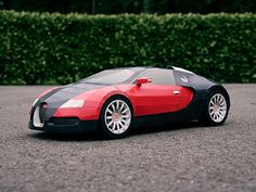 DIY Bugatti Veyron de papercraft para descargar | La Guarida Geek