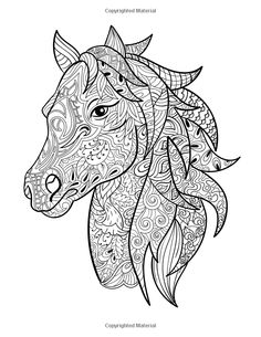 Horse Coloring Book: Coloring Stress Relief Patterns for Adult Relaxation - Best Horse Lover Gift Horse Coloring Pages, Adult Coloring Book Pages, Colouring Pages, Coloring Sheets, Coloring Books, Alpaca Drawing, Horse Stencil, Gifts For Horse Lovers, Drawings
