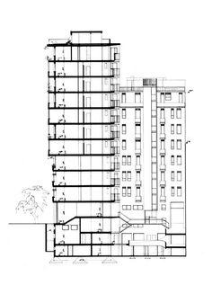 Latis - Piazza Repubblica Edificio per abitazioni, uffici e negozi - Il professionismo colto nel dopoguerra - itinerari - Ordine degli architetti, P.P.C della provinc...