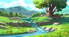 Kevin Gnutzmans is a freelance artist based in Brazil who works in both indie games and card games. Fantasy Art Landscapes, Fantasy Landscape, Landscape Art, Beautiful Landscapes, Fantasy Artwork, Landscape Architecture, Landscape Photography, Watercolor Paintings Abstract, Abstract Landscape Painting