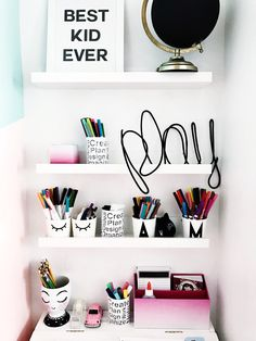 Organizing for kids back to school from MichaelsMakers Little Inspiration