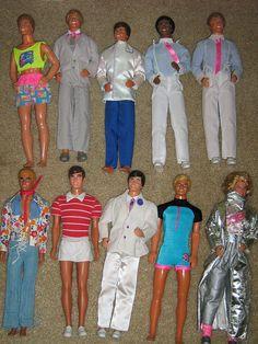 Ken Dolls, 1970's-80's
