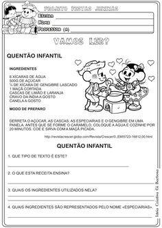 Lipitipi- Atividades e Projetos Fundamental I: Atividade Festas Juninas Gênero Textual Receita
